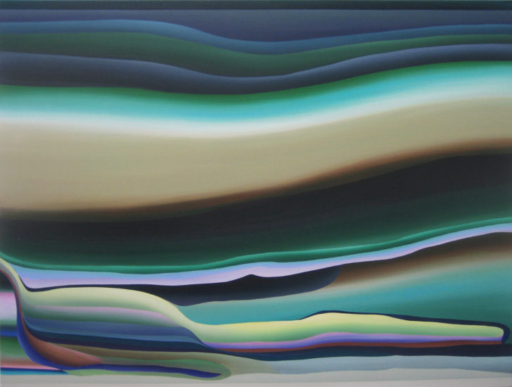 Marten Kirbach, Epilogue in waves, 95x125 cm, 2015, Acryl auf Leinwand