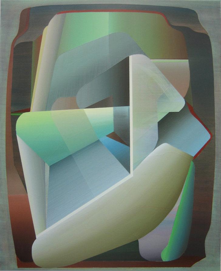 Marten Kirbach, hybrid, 70x57 cm, 2015, Acryl auf Leinwand