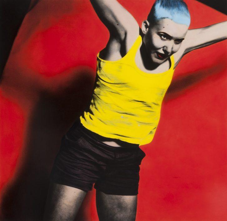 Florian Merkel, Freude, 100x100 cm, Eiweißlasurfarbe auf Silbergelatinebaryt
