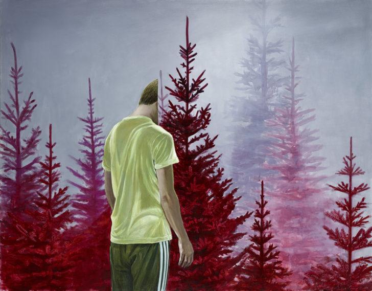 Mathias Perlet, Nur ein Bild II, 130x220, 2017, Öl auf Leinwand
