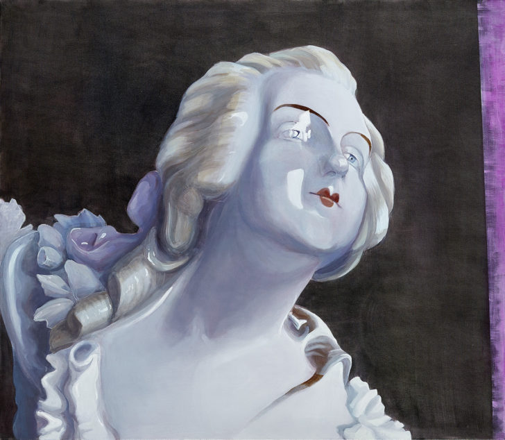 Mathias Perlet, Diana, 130x150 cm, 2017, Öl auf Leinwand