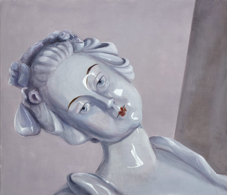 Mathias Perlet, Belladonna II, 130x130 cm, 2017, Öl auf Leinwand