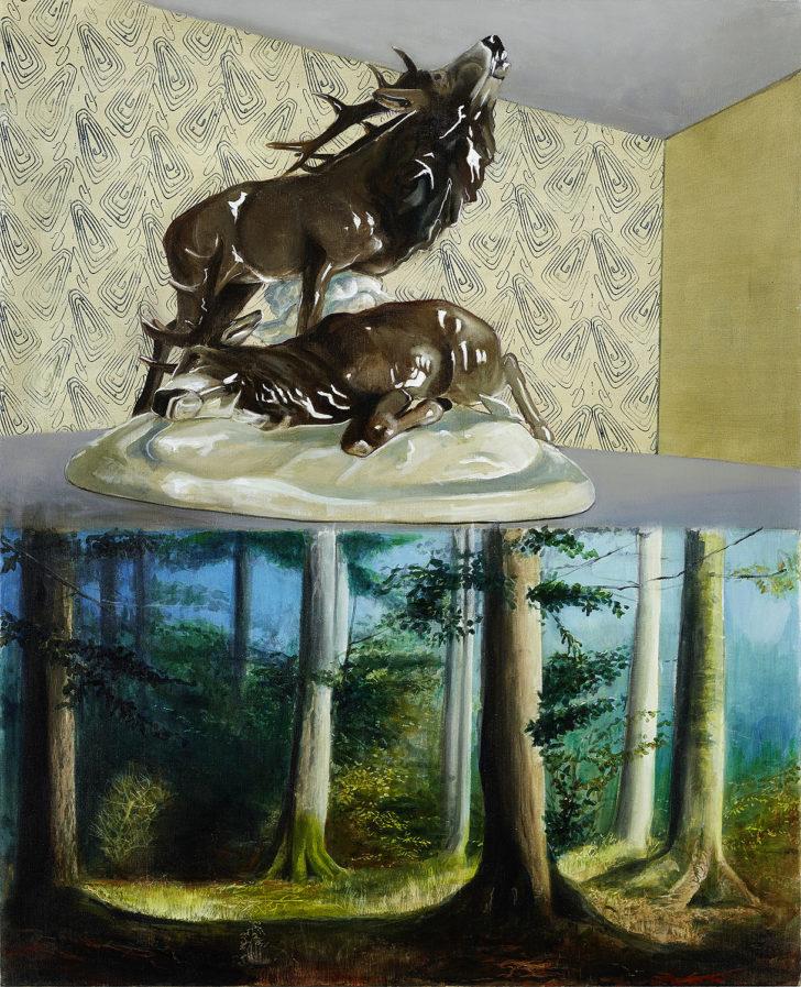 Mathias Perlet, Jägerlatein, 160x130 cm, 2016, Öl auf Leinwand