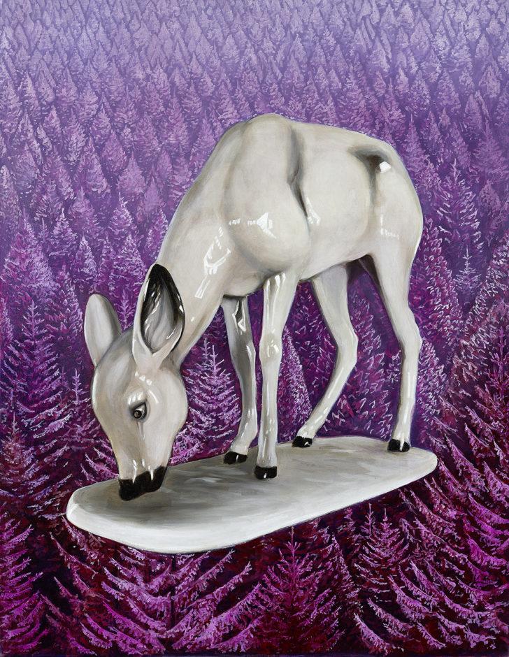 Mathias Perlet, Bambi on Tour III, 180x140 cm, 2017, Öl auf Leinwand
