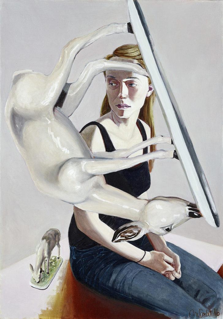 Mathias Perlet, Bambi mortale, 100x140 cm, 2016, Öl auf Leinwand