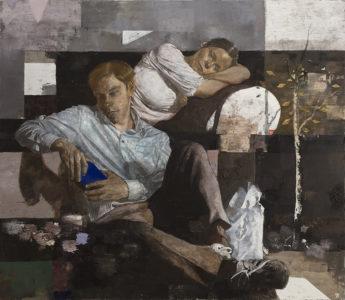 Matthias Gálvez, Philemon und Baucchis II, 2017, 130x150 cm, Öl auf Baumwolle