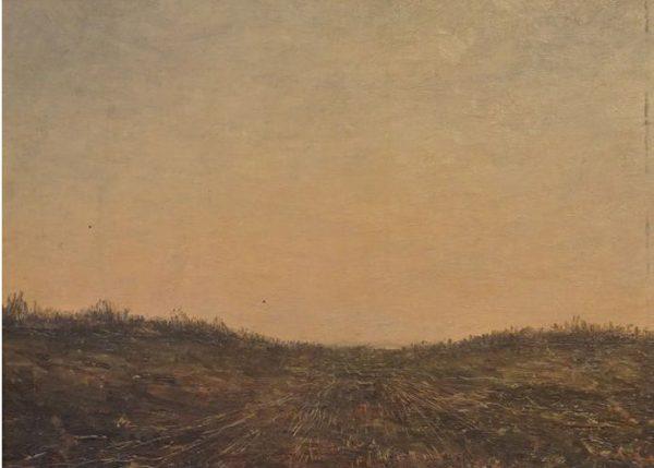 Karl Krug, Landschaft II, 25,5x35 cm, Öl auf Hartfaser