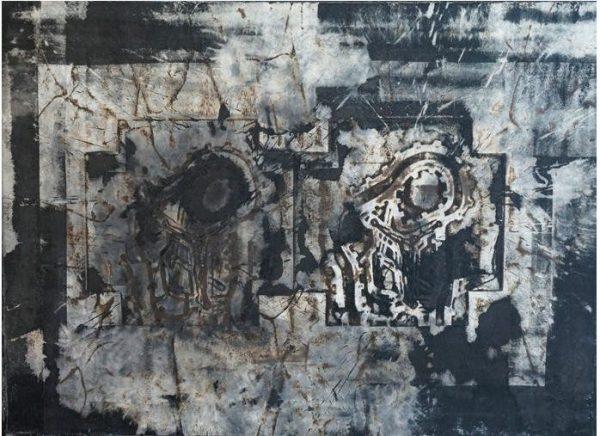 Michael Morgner, o. T., 94x128 cm, 2011, Mischtechnik auf Leinwand