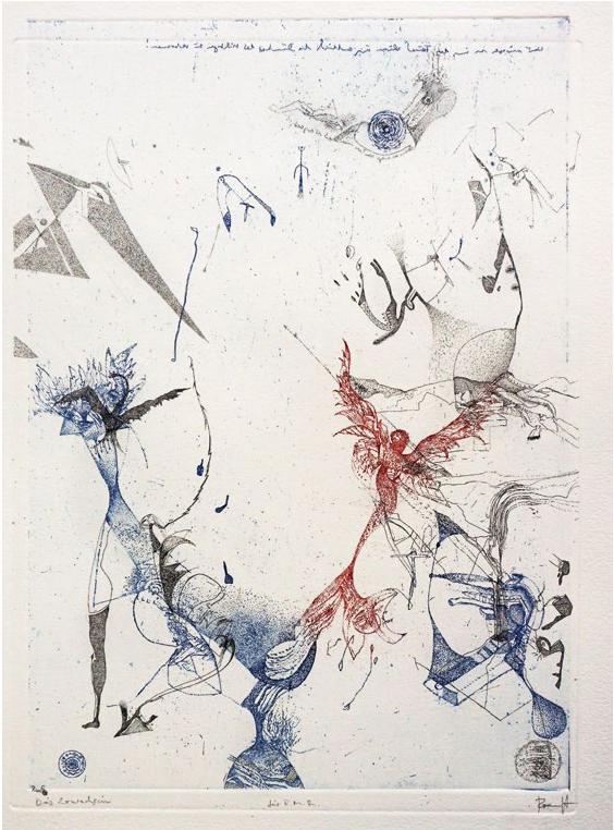 Thomas Ranft, Das Erwach-Sein, 30,5x21,8 cm, Radierung auf Bütten