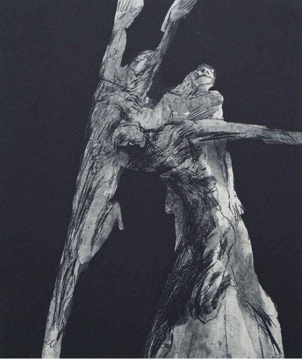 Peter Schnürperl, Finish, 24,5x21 cm, 1979/1994, Ätzradierung, Aquatinta und Pinselätzung