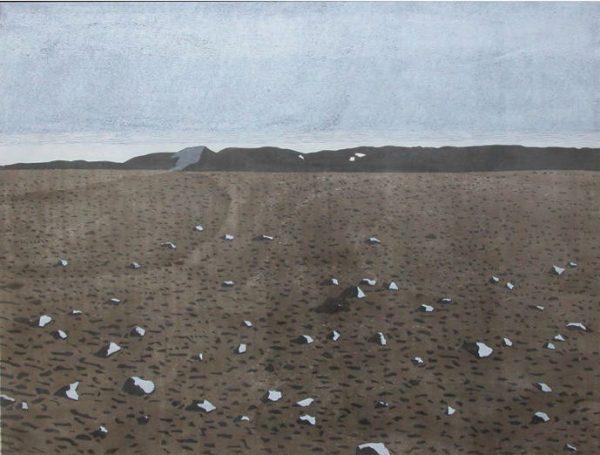 Christine Ebersbach, Im Hochland 2, 85x114 cm, 2014, Farbholzschnitt