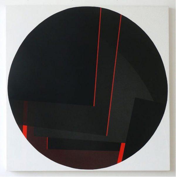Susanne Werdin, Viertel III, 90x90 cm, 2013, Acryl auf Holzwerkstoff