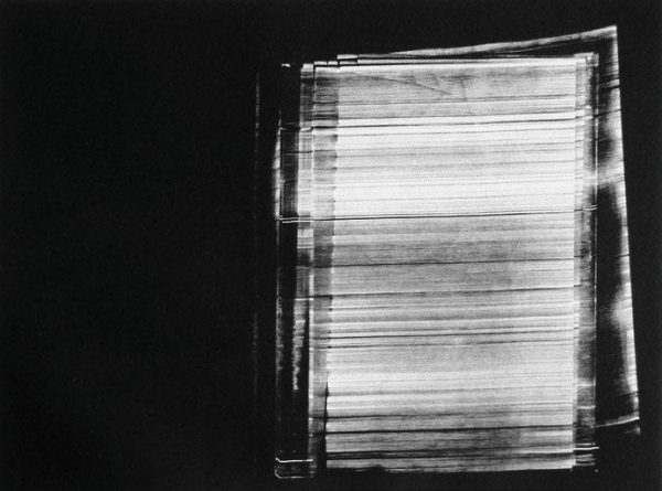Madeleine Heublein, Spuren 1, 50x60 cm, 2016, Monotypie im Tiefdruck auf Bütten