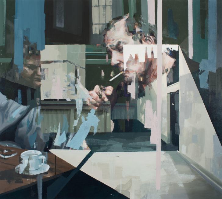 Franz Ehrenberg, Cabinet, 125x140 cm, 2018, Öl auf Leinwand