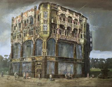 Günter Richter, Sie sammeln sich, 110x140 cm, 2016, Öl auf Leinwand