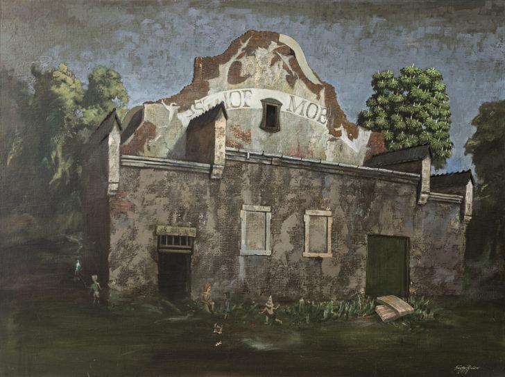 Günter Richter, Ballsaal, 110x150 cm, 1997, Öl auf Leinwand