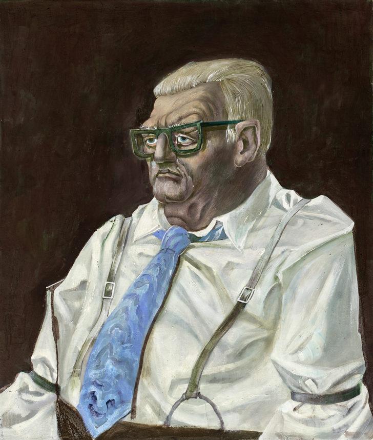 Günter Richter, Mein Vater, 65x55 cm, 1979, Öl auf Leinwand