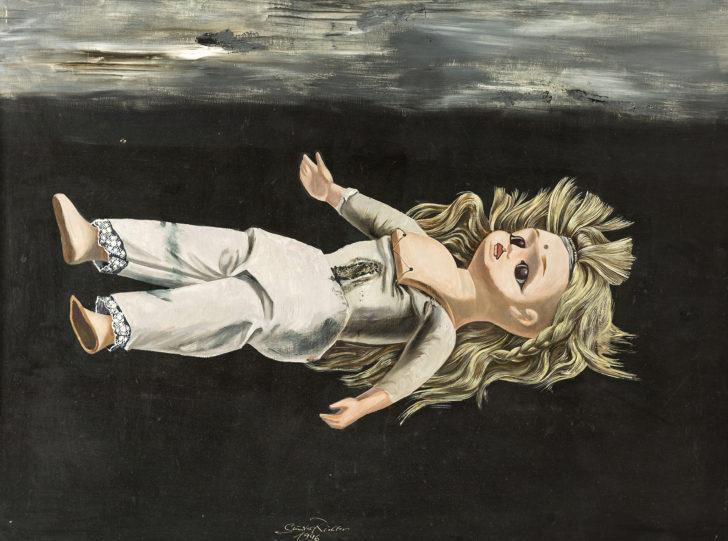 Günter Richter, Indische Puppe, 75x100 cm, 1996, Öl auf Hartfaser