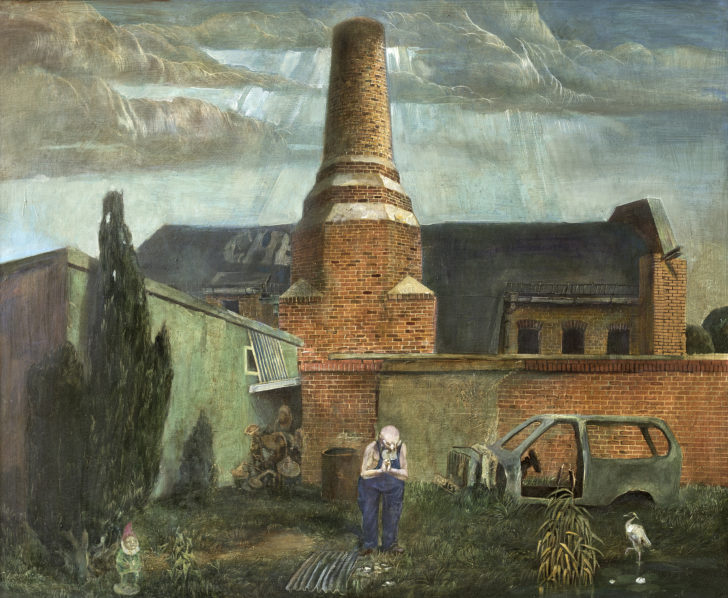 Günter Richter, Eremit, 80x98 cm, 2006, Öl auf Hartfaser