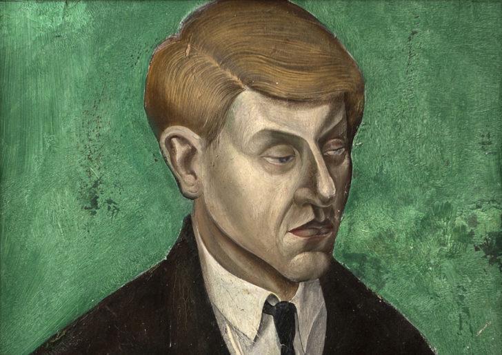 Günter Richter, Bildnis eines jungen Mannes, 34x48 cm, o. J., Öl auf Hartfaser