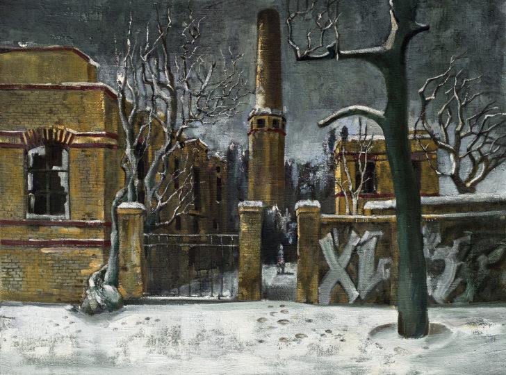 Günter Richter, Winter, 60x80 cm, o. J., Öl auf Leinwand