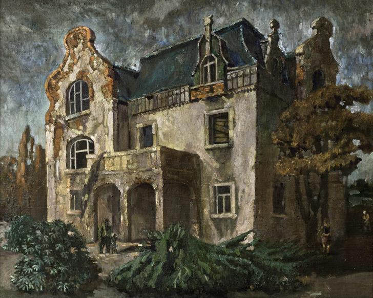 Günter Richter, Marode Villa, 75x95 cm, 2008, Öl auf Leinwand