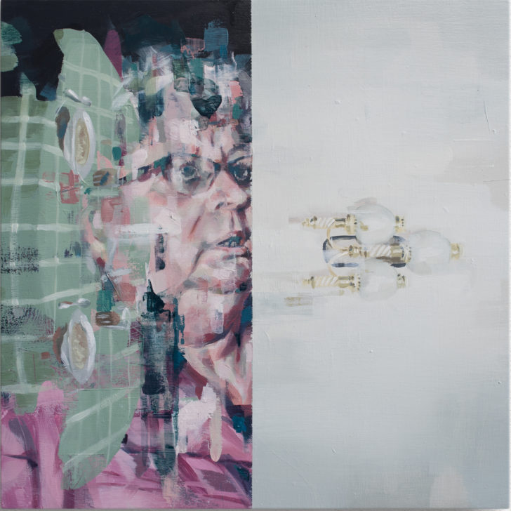 Franz Ehrenberg, Mittag, 20x20 cm, 2018, Öl auf Holz