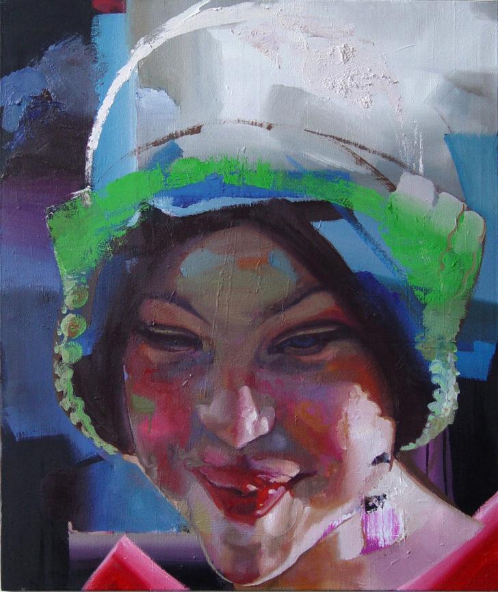 Rayk Goetze, Kopf 3 (Jette), 130 x 110 cm, 2009, Öl auf Leinwand