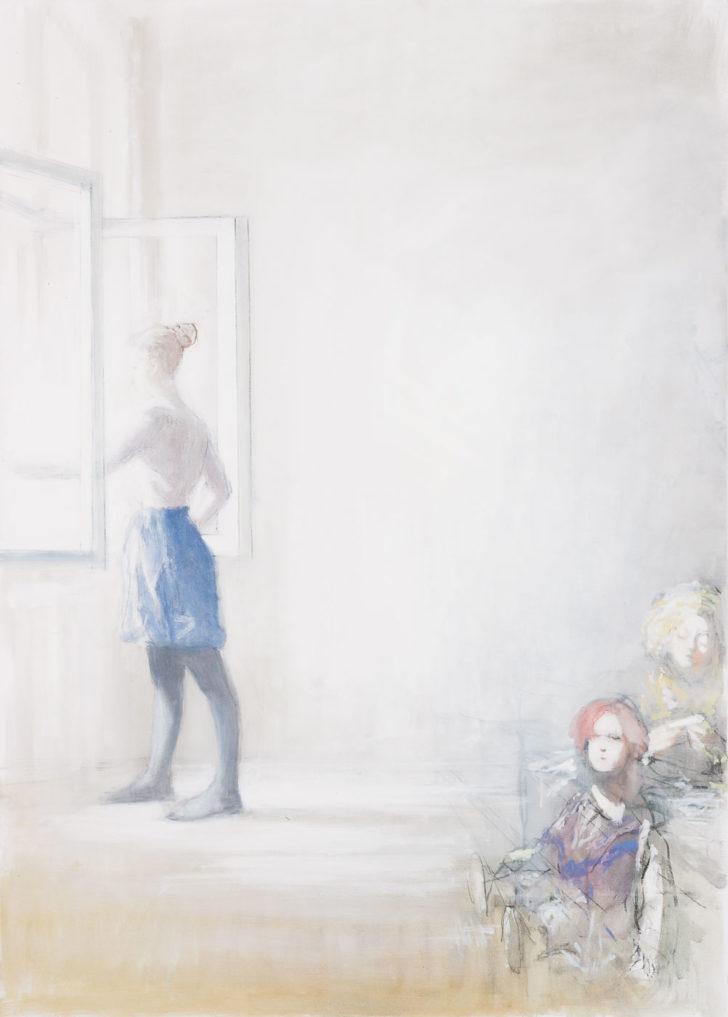 Andreas Wachter, Fenster, 140x100 cm, 2018, Mischtechnik auf Leinwand