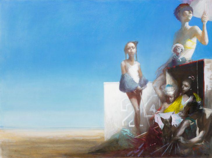 Andreas Wachter, 24, 120x160 cm, 2018, Mischtechnik auf Leinwand