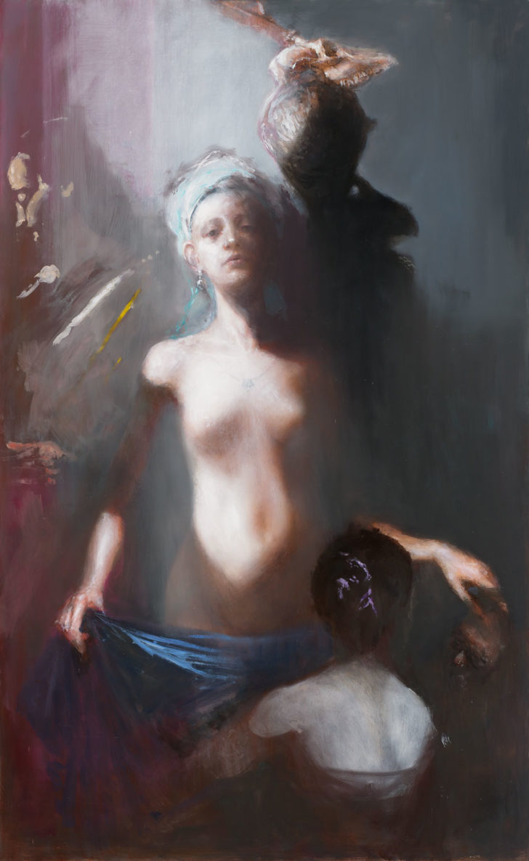 Andreas Wachter, Atelier, 147x90 cm, 2018, Mischtechnik auf MdF