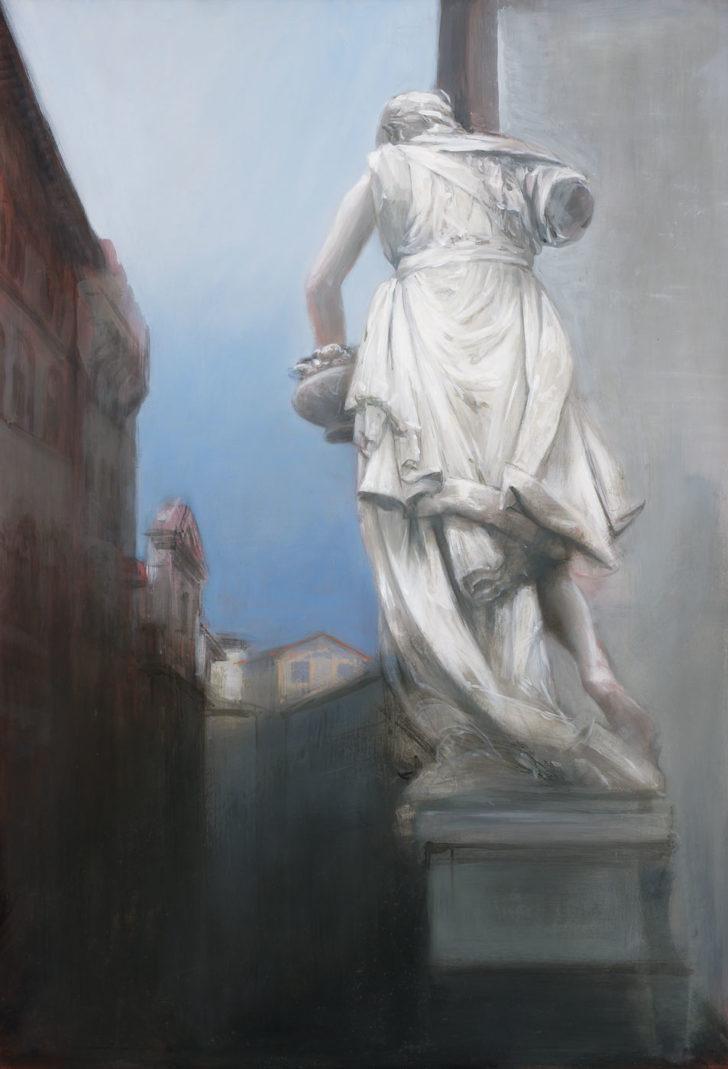 Andreas Wachter, Trübes Florenz, 100x70 cm, 2007, Mischtechnik auf Hartfaser