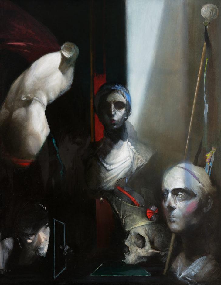 Andreas Wachter, Fragmente, 100x80 cm, 2011, Mischtechnik auf Leinwand