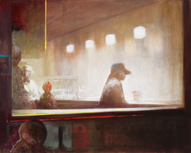 Andreas Wachter, Diner, 80x100 cm, 2018, Öl auf Leinwand
