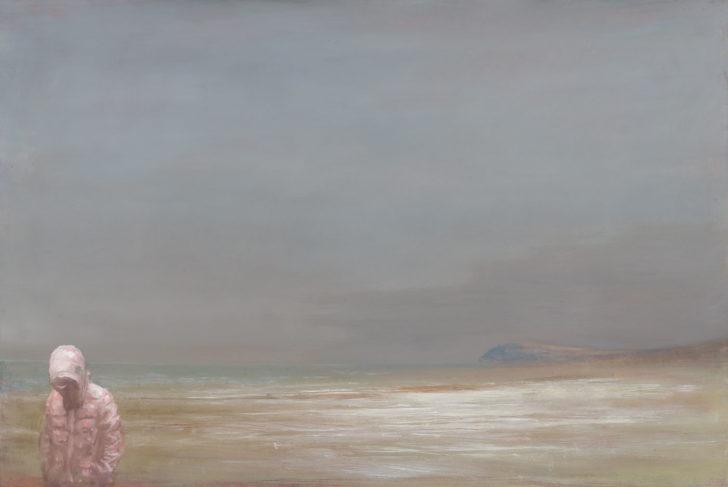 Andreas Wachter, Thissower Strand, 47 x 71 cm, 2018, Mischtechnik auf MdF