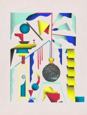 Jeong Hwa Min, Houseplant #23, 2017, Acryl auf Papier