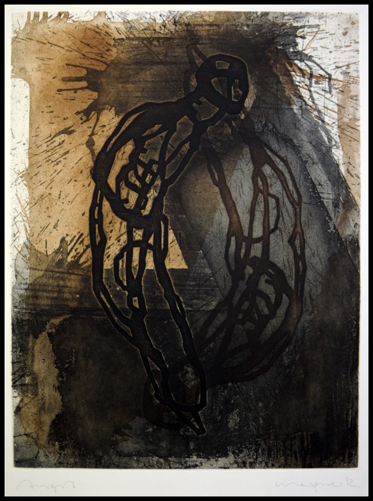 Michael Morgner, Angst, Radierung, 1992