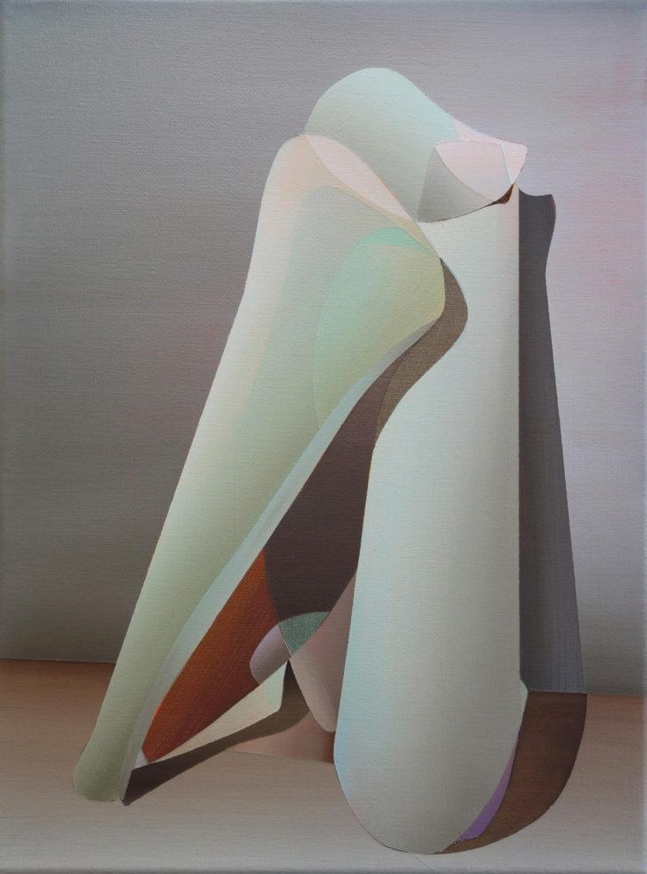 Marten Kirbach, Körper, 40x30 cm, 2017, Acryl auf Leinwand