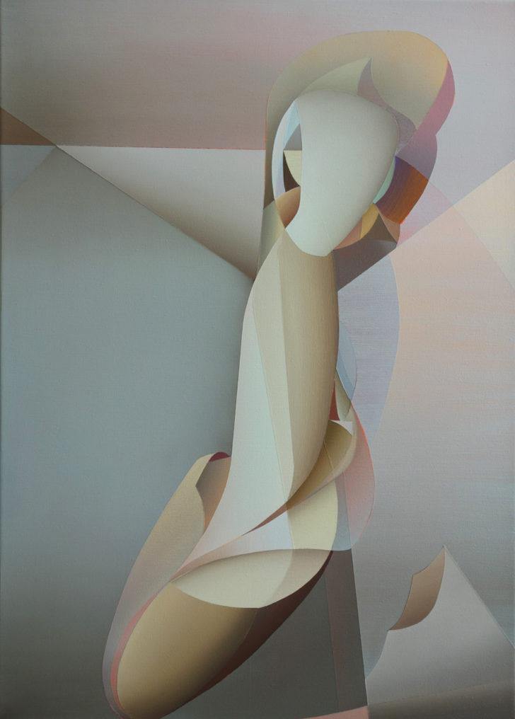 Marten Kirbach, Kind, 70x50 cm, 2018, Acryl auf Leinwand