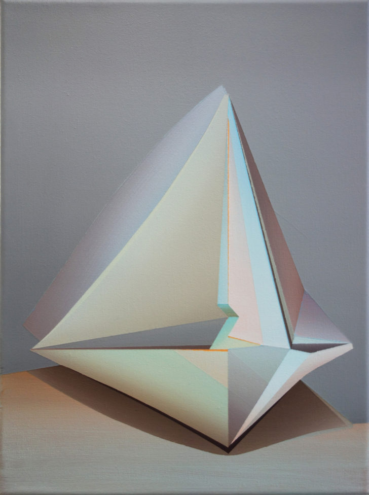 Marten Kirbach, Kristallform, 40x30 cm, 2017, Acryl auf Leinwand