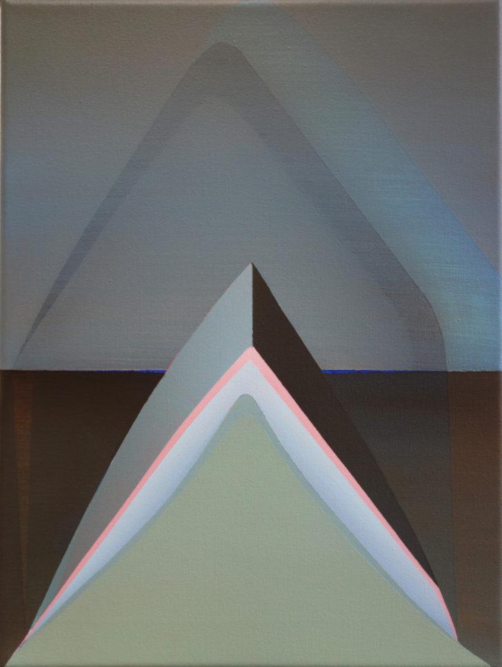 Marten Kirbach, o. T., 40x30 cm, 2017, Acryl auf Leinwand