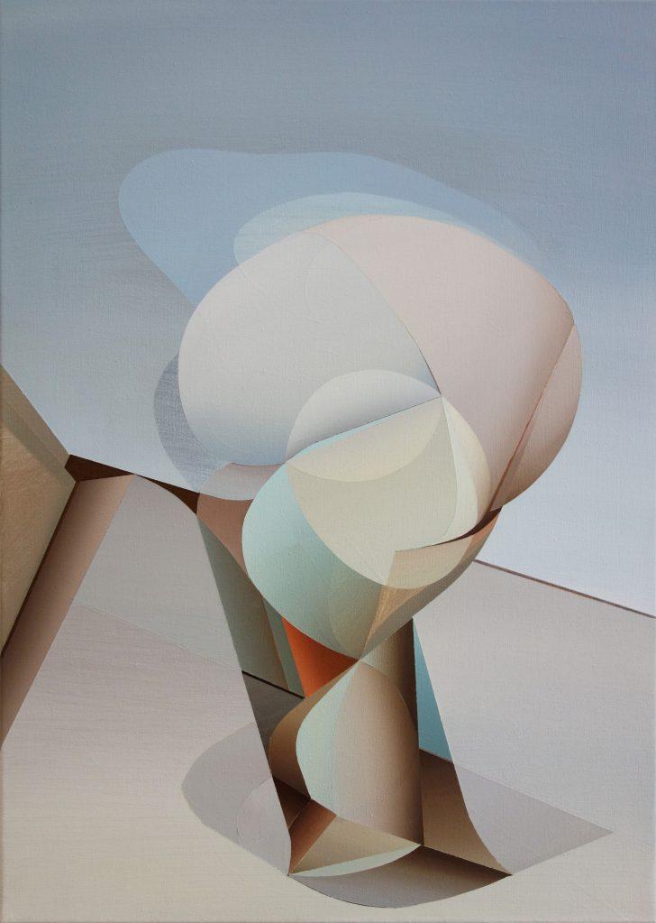 Marten Kirbach, o. T., 70x50 cm, 2018, Acryl auf Leinwand