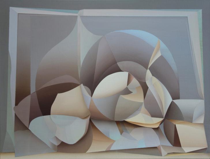 Marten Kirbach, o. T., 75x100 cm, 2018, Acryl auf Leinwand