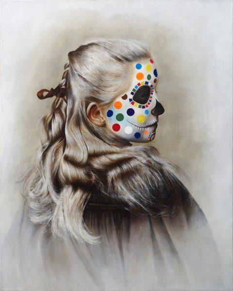 Nils Franke, Catrina, 100x80 cm, 2018, Öl auf Leinwand