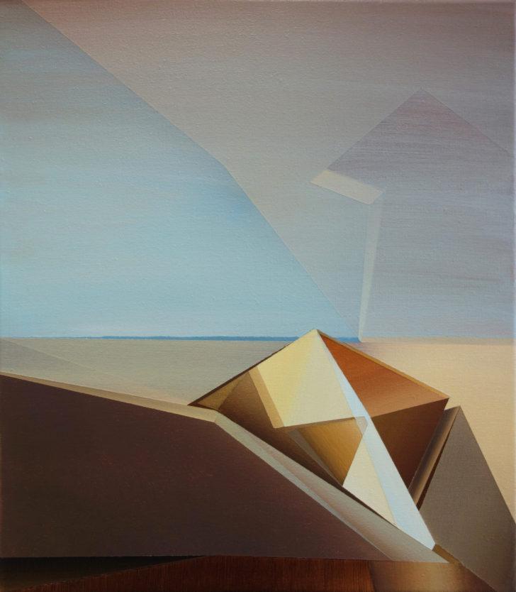 Marten Kirbach, Sand, 40x35 cm, 2017, Acryl auf Leinwand