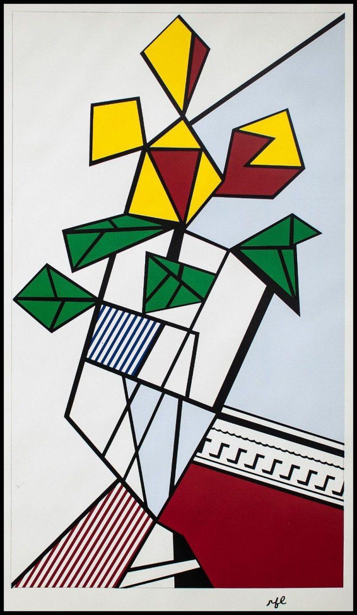 Roy Lichtenstein, Flowers, Serigraphie, 1973