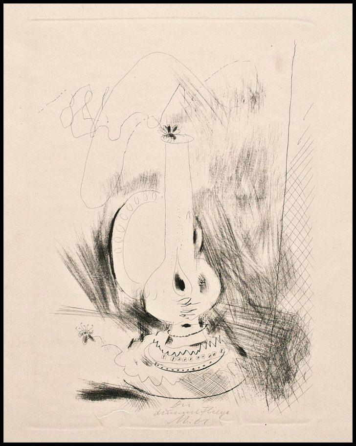Wolfgang Mattheuer, Die dumme Fliege, Lithographie, 1961