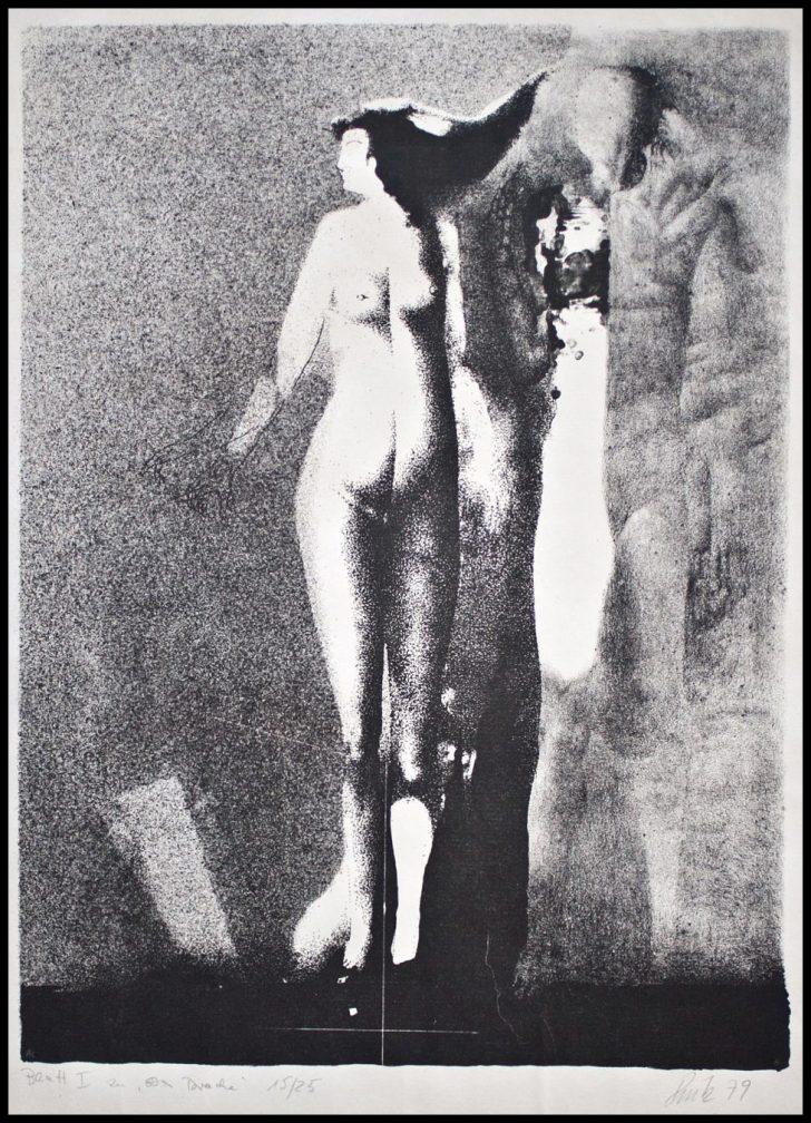 """Arno Rink, Blatt I zu """"Der Drache"""", Lithographie, 1979, 15/25"""