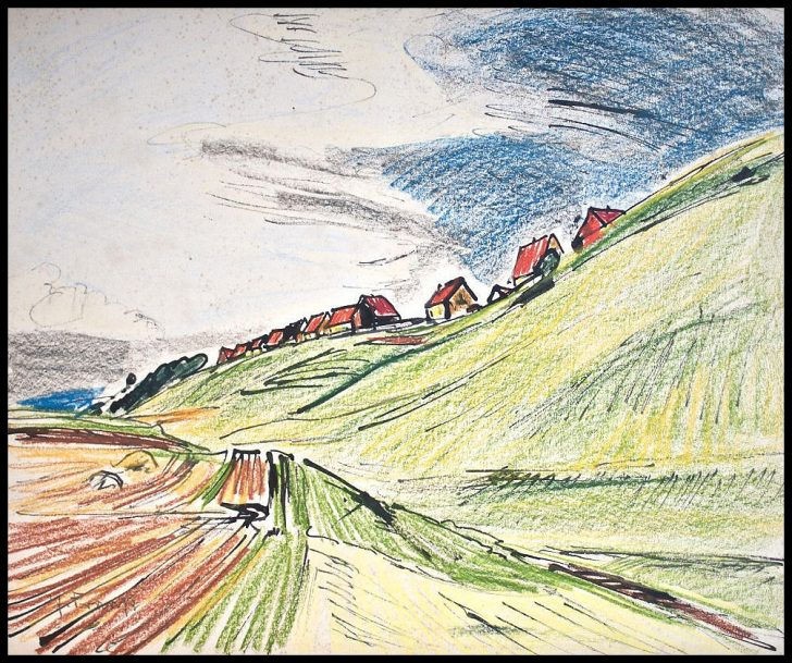Erich Fraaß, Siedlung am Heiligen Born, Dresden, Mischtechnik, 1929/34