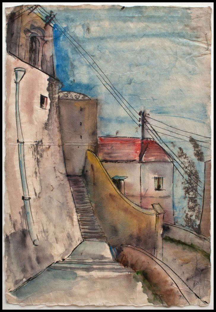 Max Schwimmer, Positano, Aquarell, 1935